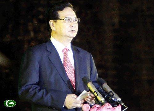 Thủ tướng Nguyễn Tấn Dũng phát biểu tại lễ khai mạc.