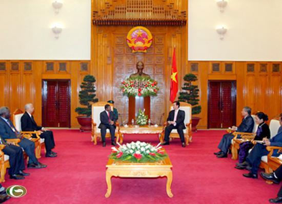 Thủ tướng Nguyễn Tấn Dũng nhiệt liệt chào mừng Ngài Ali Mohamed Shein cùng Đoàn sang thăm chính thức Việt Nam